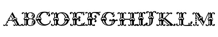 Bodoni Initials Font UPPERCASE