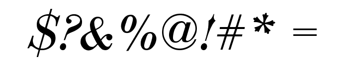 Bodoni-Normal-Italic Font OTHER CHARS