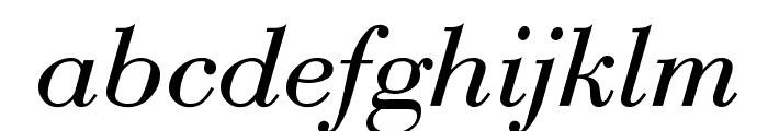 Bodoni-Normal-Italic Font LOWERCASE