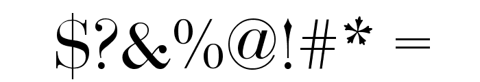 Bodoni-Normal Font OTHER CHARS