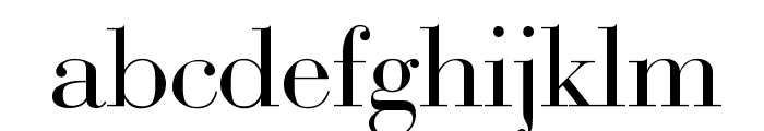 Bodoni-Normal Font LOWERCASE