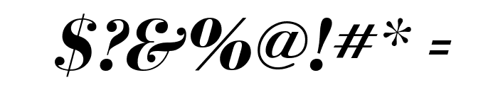 BodoniFLF-BoldItalic Font OTHER CHARS