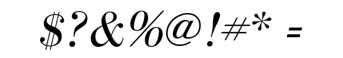 BodoniFLF-Italic Font OTHER CHARS