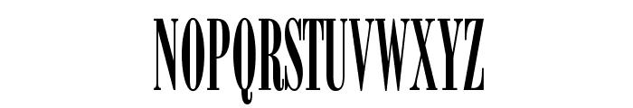 BodoniOpti-SemiCompressed Font UPPERCASE