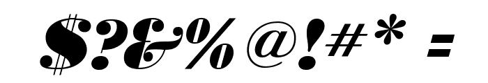 BodoniUltraFLF-Italic Font OTHER CHARS
