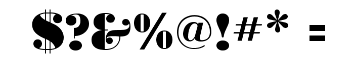 BodoniUltraFLF Font OTHER CHARS
