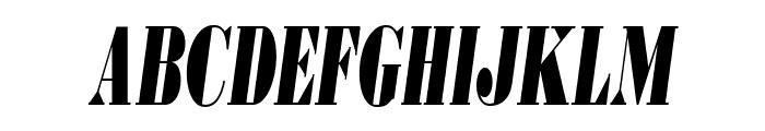 BodoniUltraFLFCond-Italic Font UPPERCASE