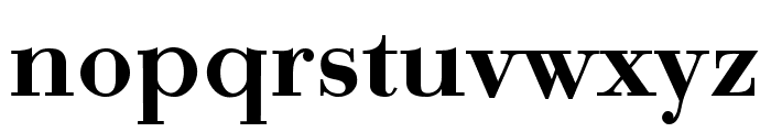 Bodonio Regular Font LOWERCASE