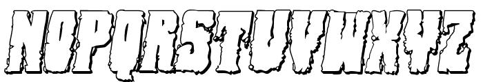 Bog Beast 3D Italic Font UPPERCASE