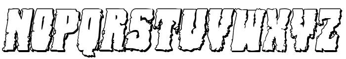 Bog Beast 3D Italic Font LOWERCASE