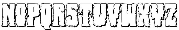 Bog Beast 3D Font UPPERCASE