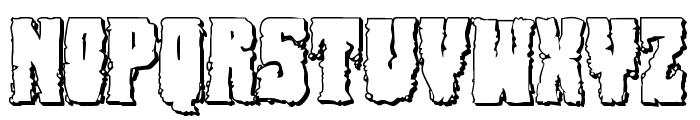Bog Beast 3D Font LOWERCASE