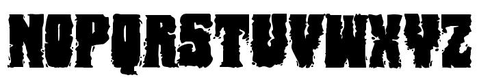 Bog Beast Expanded Font UPPERCASE