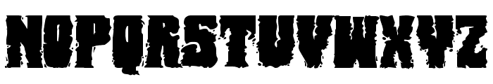 Bog Beast Expanded Font LOWERCASE