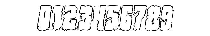 Bog Beast Outline Italic Font OTHER CHARS