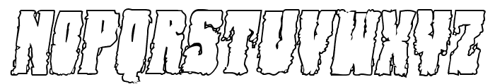 Bog Beast Outline Italic Font UPPERCASE