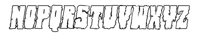 Bog Beast Outline Italic Font LOWERCASE