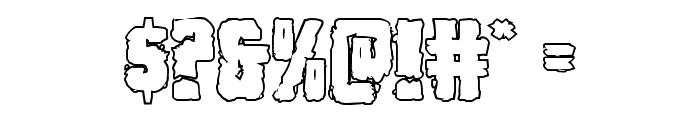Bog Beast Outline Font OTHER CHARS