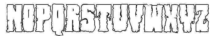 Bog Beast Outline Font UPPERCASE