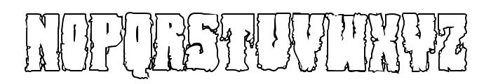 Bog Beast Outline Font LOWERCASE