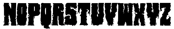 Bog Beast Regular Font UPPERCASE