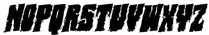 Bog Beast Rotatalic Font UPPERCASE