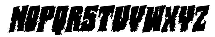 Bog Beast Rotatalic Font LOWERCASE