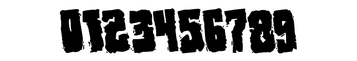 Bog Beast Rotated Font OTHER CHARS