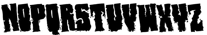 Bog Beast Rotated Font UPPERCASE