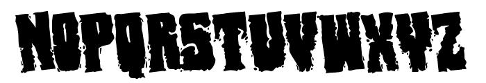 Bog Beast Rotated Font LOWERCASE