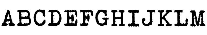 Bohemian typewriter Font UPPERCASE