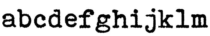 Bohemian typewriter Font LOWERCASE