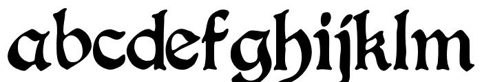 BoisterBlack Font LOWERCASE