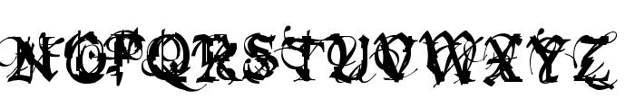 Bokonon Trial Version Font UPPERCASE