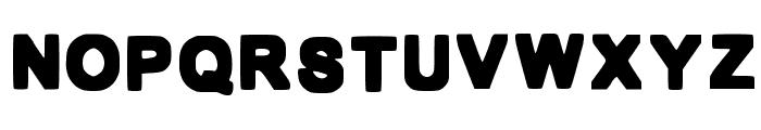 Bold Box Font UPPERCASE