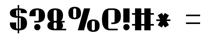 Bold Sans Serif 7 Font OTHER CHARS