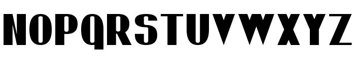 Bold Sans Serif 7 Font UPPERCASE