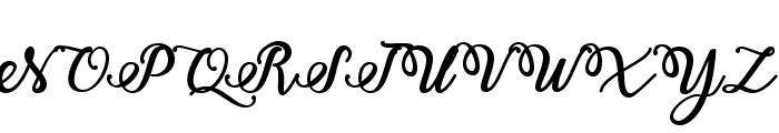 Bold & Stylish Calligraphy Font UPPERCASE