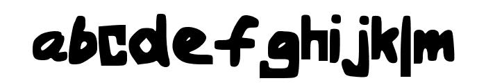 BoldHandwriting Font LOWERCASE