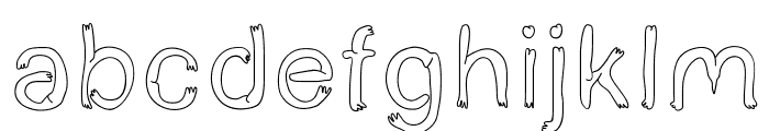 BoldStar Font LOWERCASE