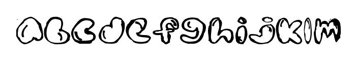Boldded Nick Font LOWERCASE