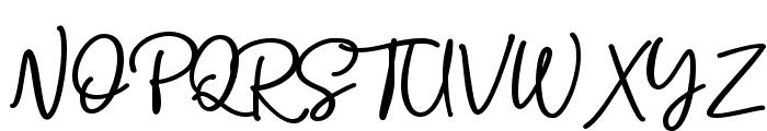 Bolder Line Font UPPERCASE