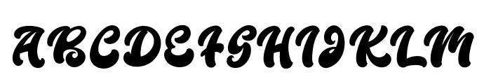 BoldieScript Font UPPERCASE