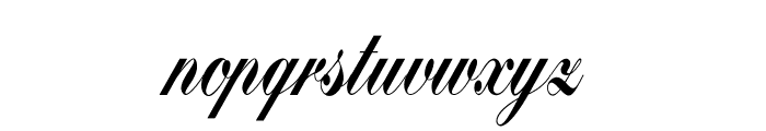 Bolina Font LOWERCASE