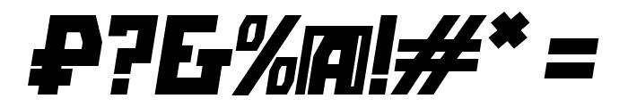 Bolshevik Bold Oblique Font OTHER CHARS