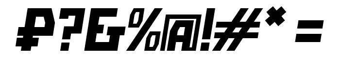 Bolshevik Oblique Font OTHER CHARS