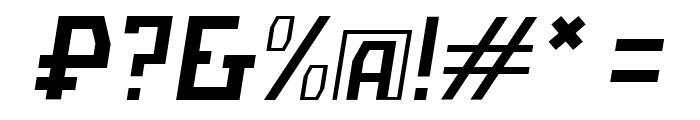 Bolshevik Paperlight Oblique Font OTHER CHARS