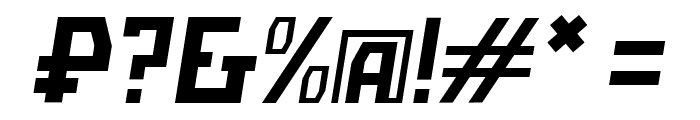 Bolshevik Superlight Oblique Font OTHER CHARS
