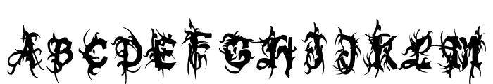 Bolt Cutter Nasty Font UPPERCASE