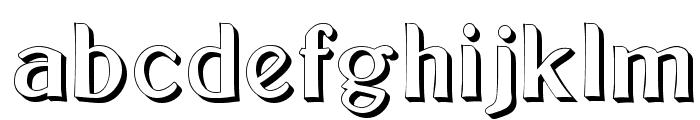 Bolton Sans Embossed Font LOWERCASE